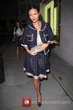 Thandie Newton - Celebrities at the Louis Vuitton party on New Bond Street - London, United Kingdom - Thursday 25th...