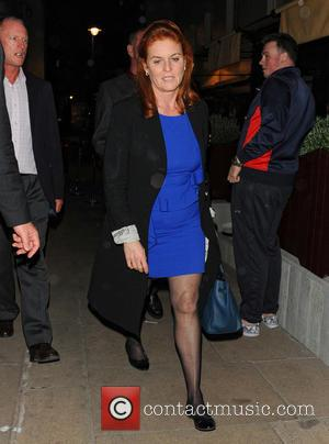 Sarah Ferguson - Sarah Ferguson leaving Loulou's club in Mayfair. - London, United Kingdom - Friday 26th April 2013