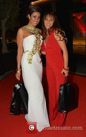 Layla Flaherty and Jo Jordan - Guests seen leaving the Peter Mark VIP Style Awards 2013 at The Marker Hotel...