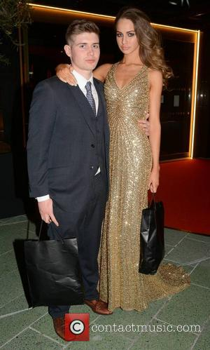 Thalia Heffernan and boyfriend Anthony Slein - Guests seen leaving the Peter Mark VIP Style Awards 2013 at The Marker...