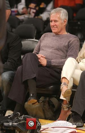 Alex Trebek - Celebrities watch the LA Lakers playoff game at the Staples Center - Los Angeles, California, United States...