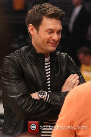 Ryan Seacrest - Celebrities watch the LA Lakers playoff game at the Staples Center - Los Angeles, California, United States...