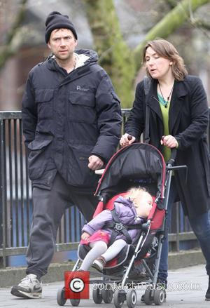 Damon Albarn - Blur singer Damon Albarn dressed casual in trainers and jogging bottoms takes a stroll with a friend...