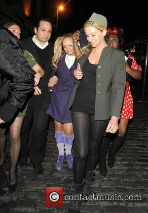 Emma Bunton - Keith Lemon's 40th birthday party at Gilgamesh - Departures - London, United Kingdom - Saturday 27th April...
