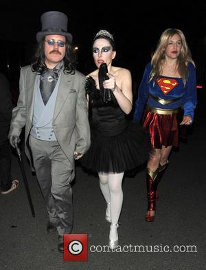 Leigh Francis and Jill Carter - Keith Lemon's 40th birthday party at Gilgamesh - Departures - London, United Kingdom -...