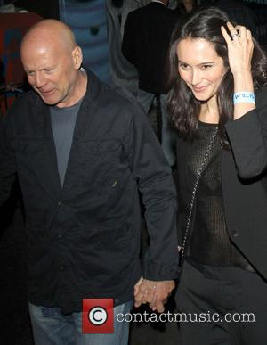 Bruce Willis and Emma Heming - Celebrities leave the Echoplex in Hollywood after watching the Rolling Stones in concert -...