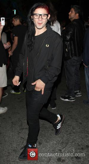 Skrillex - Celebrities leave the Echoplex in Hollywood after watching the Rolling Stones in concert - Los Angeles, California, United...