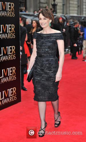 Kristin Scott Thomas - The Olivier Awards held at the Royal Opera House - Arrivals - London, United Kingdom -...