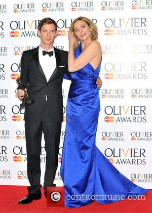 Kim Cattrall and Luke Treadaway - The Olivier Awards held at the Royal Opera House - Pressroom - London, United...