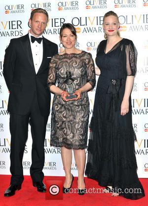 Romola Garai and Nicola Walker - The Olivier Awards held at the Royal Opera House - Pressroom - London, United...