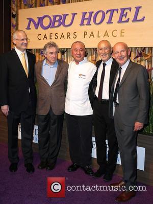 Gary Selesner, Robert Deniro, Nobu Matsuhisa, Meir Teper and Trevor Horwell