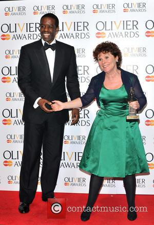 Adrian Lester and Imelda Staunton - The Olivier Awards held at the Royal Opera House - Pressroom - London, United...