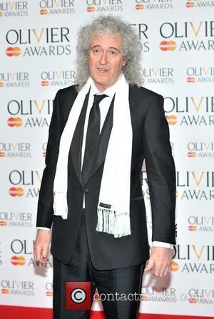 Brian May - The Olivier Awards held at the Royal Opera House - Pressroom - London, United Kingdom - Sunday...