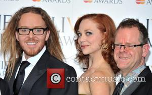 Tim Minchin, Kristen Beth Williams and Matthew White - The Olivier Awards held at the Royal Opera House - Pressroom...