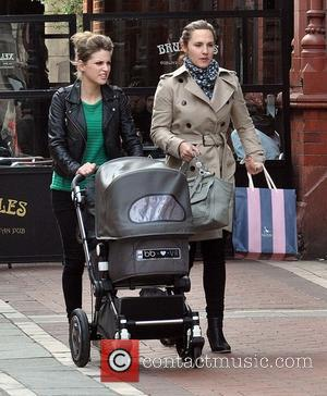 Amy Huberman and Sadie O'Driscoll - Actress Amy Huberman seen out and about Grafton St. wheeling her infant daughter Sadie...