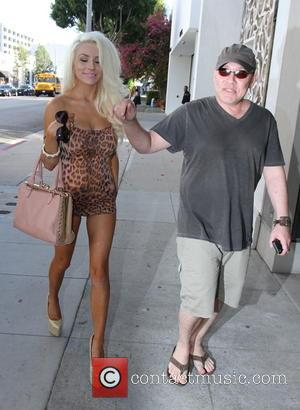 Doug Hutchison and Courtney Stodden - Actor Doug Hutchison and his 18 year old wife Courtney Stodden spotted having lunch...