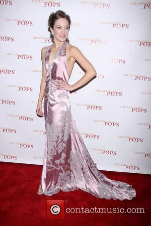 Laura Osnes wearing Randi Rahm - The New York Pops 30th Birthday Gala reception held at the Plaza Hotel -...