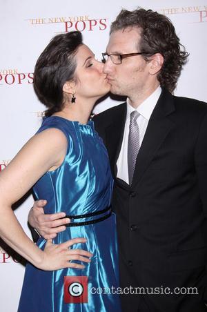 Stephanie J. Block and Sebastian Arcelus - The New York Pops 30th Birthday Gala reception held at the Plaza Hotel...