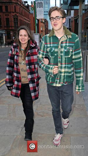 Tom Fletcher and Giovanna Fletcher - Tom Fletcher and his new wife Giovanna out and about in Manchester - Manchester,...