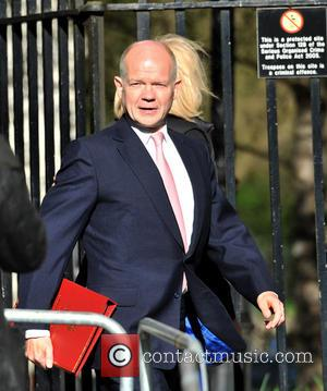Foreign Secretary William Hague - Government officials arrive for a Cabinet meeting at 10 Downing Street - London, United Kingdom...
