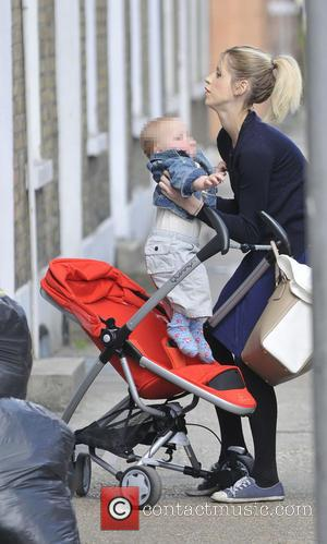 Peaches Geldof and Astala - Peaches Geldof and baby son Astala go for a stroll in the park on a...