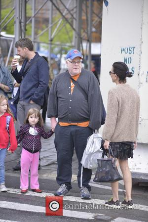 Phillip Seymour Hoffman - Phillip Seymour Hoffman and his daughters Willa and Tallulah are seen on a school run -...