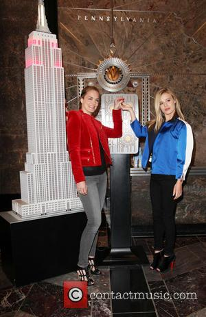 Katharina Harf and Georgia May Jagger - Georgia May Jagger lights the Empire State Building to shine a light on...