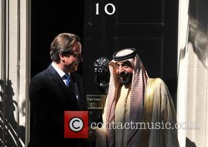 David Cameron and Sheikh Khalifa Bin Zayed Al Nahyan