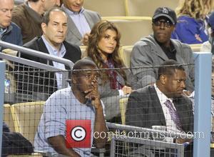 Paula Abdul, Arsenio Hall and Chris Tucker - Celebrities at the LA Dodgers vs Colorado Rockies baseball game at Dodger...