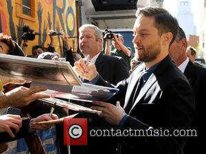 Tobey Maguire - Celebrities at the Ed Sullivan Theater for 'The Late Show With David Letterman' - New York City,...