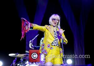 Karen O - Yeah Yeah Yeahs performing live at the Manchester O2 Apollo - Manchester, United Kingdom - Wednesday 1st...