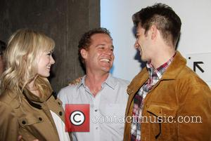 Emma Stone, Adam James and Andrew Garfield