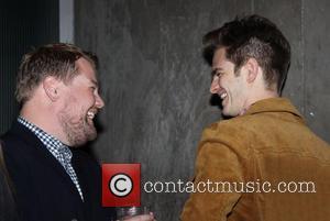 James Corden and Andrew Garfield