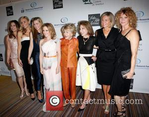 Rita Wilson, Jaime Tisch, Quinn Ezralow, Kylie Minogue, Anne Douglas, Marion Laurie, Kelly Meyer and Kate Capshaw