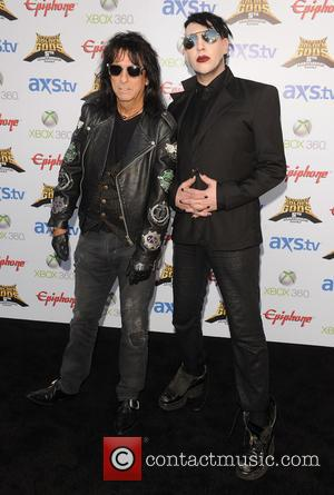 Alice Cooper and Marilyn Manson - The Fifth Annual Revolver Golden Gods Awards show - arrivals - Los Angeles, CA,...