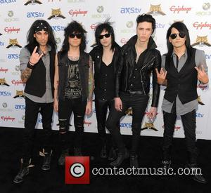 Black Veil Brides - The Fifth Annual Revolver Golden Gods Awards show - arrivals - Los Angeles, CA, United States...