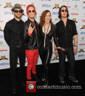 Halestorm - The Fifth Annual Revolver Golden Gods Awards show - arrivals - Los Angeles, CA, United States - Thursday...