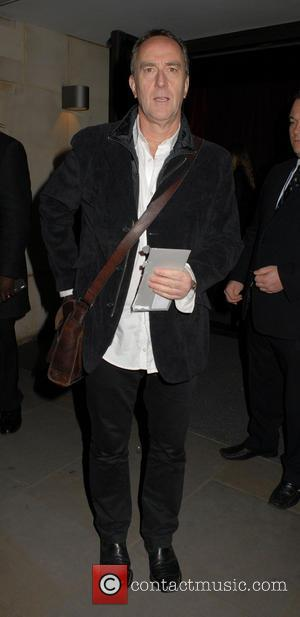 Angus Deayton and leather messenger bag - U.K. premiere of 'Star Trek Into Darkness 3D' - Afterparty at Aqua -...