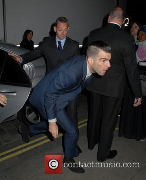 Zachary Quinto, dash, run, quick and avoid - U.K. premiere of 'Star Trek Into Darkness 3D' - Afterparty at Aqua...