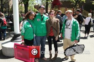 Adam Yauch, Mah Dukes, Mike K, Nadia Araiza and Andy Katz