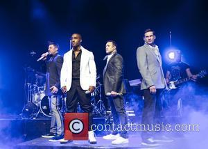 Blue, Lee Ryan, Simon Webbe, Duncan James and Antony Costa - Blue performing live at the Shepherds Bush Empire -...