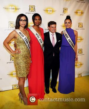 Miss Teen Usa Logan West, Miss Usa Nana Meriwether, Joseph Wilguest and Miss Universe Olivia Culpo