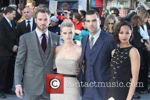 Zoe Saldana, Chris Pine, Alice Eve and Zachary Quinto