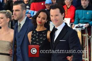 Alice Eve, Zachary Quinto, Zoe Saldana and Benedict Cumberbatch