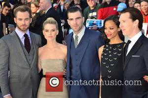 Chris Pine, Alice Eve, Zachary Quinto, Zoe Saldana and Benedict Cumberbatch