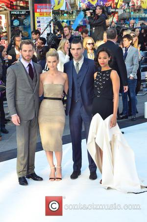 Chris Pine, Alice Eve, Zachary Quinto and Zoe Saldana