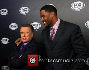 Regis Philbin and Michael Strahan - 2013 Fox Sports Media Group Upfront After Party - Arrivals - New York City,...