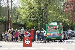 Ice Cream Van Outside Richmond Park and Atmosphere