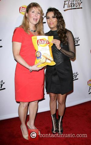 Eva Longoria and Lay's Winner Karen Weber-mendham