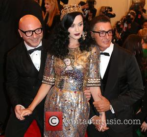 Katy Perry, Designers Domenico Dolce and Stefano Gabbana (r)
